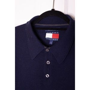 Tommy Hilfiger Shirts - Vintage TOMMY HILFIGER Wool Polo Rugby Shirt EUC